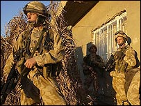 Black Watch soldiers during the raids on Millionaires' Row