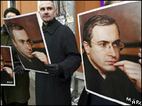 Supporters of Mikhail Khodorkovsky