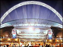 A graphic of what the new Wembley will look like