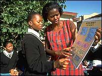 Educaci�n sobre VIH en Botswana. (Gentileza ONUSIDA G.Pirrozzi)