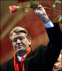 Viktor Yushchenko, opposition leader