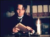 Johnny Depp as Inspector Abberline in the movie From Hell