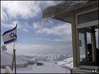Snow on the Golan Heights