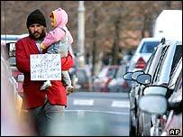 Beggar in Bucharest