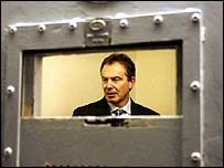 Tony Blair in a police cell