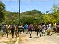 People on streets in Palm Island (26/11/04)