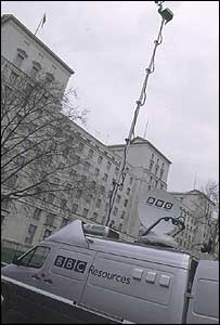 An outside broadcast truck