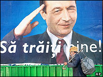 Romanian election poster
