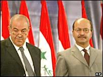 Iyad Allawi (left) and Barham Saleh