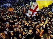 Ukrainians protesting