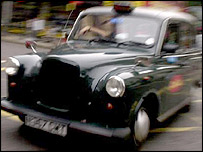 A black cab (generic)