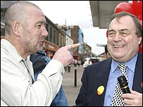 John Prescott and member of the public