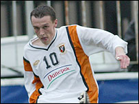 Glentoran striker Michael Halliday
