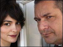 Audrey Tatou and Jean-Pierre Jeunet