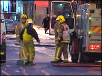 Fire crews at the scene in Bath Street, Glasgow