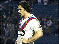 GB prop Adrian Morley faces up to defeat against Australia