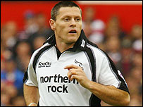 Newcastle full-back Matt Burke