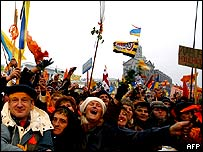 Opposition supporters in Kiev