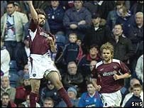 Paul Hartley was on target for Hearts