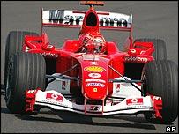 Michael Schumacher in the Ferrari F2004