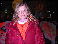 Natalia Tkachuk, deputy leader of Kiev's student protest group Pora