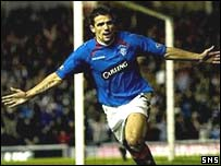 Nacho Novo scored twice for Rangers