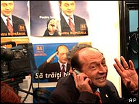 Opposition candidate Traian Basescu