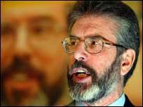 Gerry Adams, líder del Sinn Fein