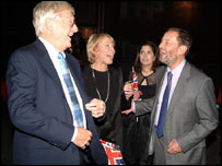 David Blunkett and Kimberly Quinn with Michael Parkinson and his wife Mary