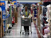Shopper at a Wal-Mart store