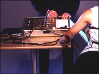 Image of a polygraph lie detector