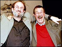 Authors Salman Rushdie (left) and Gunter Grass