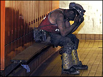 Miner after last shift at Selby