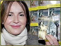 Kirsty Burgess, aged 21 from Bath, is the first person to buy the Band Aid 20 CD Do They Know It's Christmas?