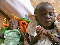 Children at a Save the Children camp in Darfur