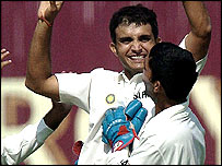 India skipper Sourav Ganguly