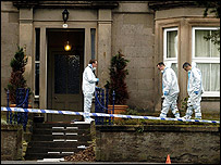 Scenes of crime officers at the house