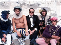 Michael Palin, Graham Chapman, John Cleese, Eric Idle and Terry Jones from classic Monty Python