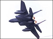 An F15 fighter plane