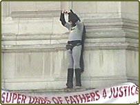 Batman stunt at Buckingham Palace
