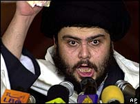 Moqtada Sadr gives a sermon