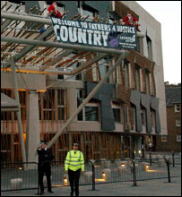 Holyrood protest