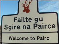 Pairc Estate sign