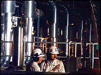 Boiler tubes at power station