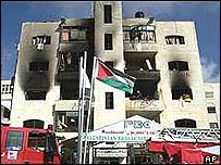 Voice of Palestine radio offices in Ramallah were blown up by Israel in 2002