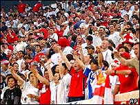 England fans at 2002 World Cup