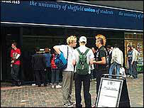Students in Sheffield