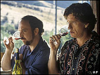Paul Giamatti (left) and Thomas Haden Church in Sideways