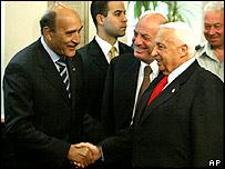 Ariel Sharon meets Omar Suleiman