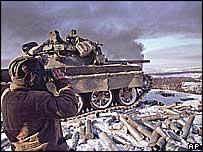 Чечня, 2000 год. Российская армия под Грозным